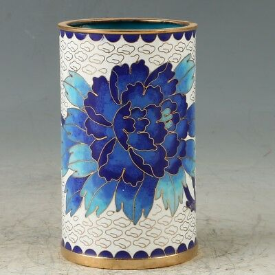 Chinese  Cloisonne Hand-made Flowers Brush Pots GL421