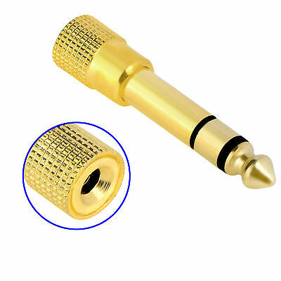 """Gold Plated 6.35mm 1/4"""" Male to 3.5mm 1/8"""" Stereo Female Headphone Audio Adapter"""