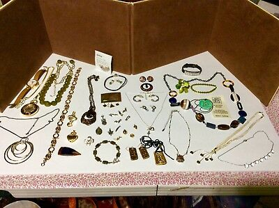 Antique Vintage Mixed Jewelry Lot Variety Of Mixed Items Some Not So Vintage