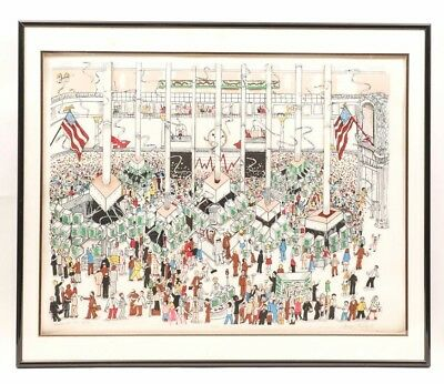 Charles Fazzino Mixed Media 3d Wall Street Huge (not the smaller Stock Exchange)