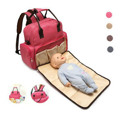 Large Capacity Mummy Bags Baby Diaper Nappy Maternity Changing Travel Backpack