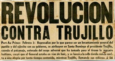 Dominican Rep-PONCE, P.R. 1938 Letter to Trujillo, El Imparcial News Clippings