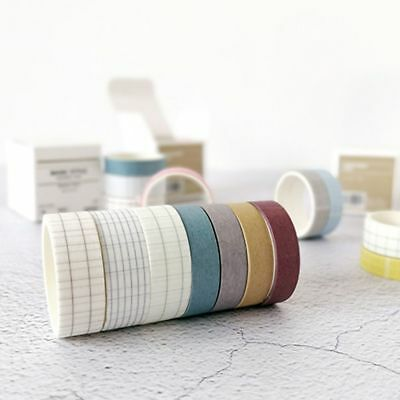 Basic Style Grid Pure Color Washi Tape DIY Scrapbooking Sticker Label Masking CN