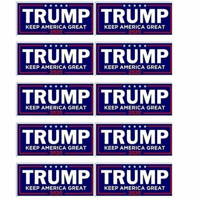 10PCS Donald Trump For President 2020 Bumper Sticker Keep Make America Great RF
