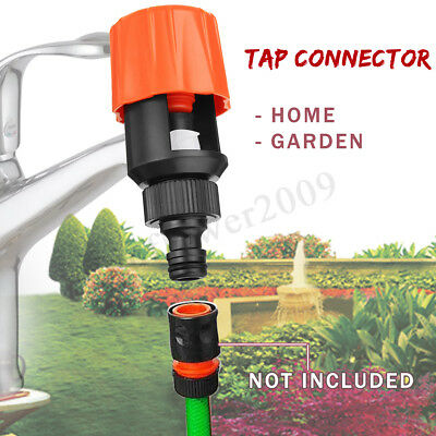 2x Universal Tap Garden Water Hose Pipe Quick Connect Mixer Kitchen Tap Adapter