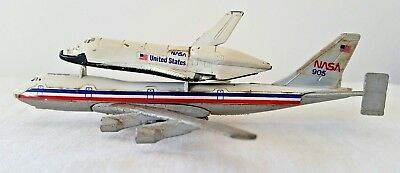 Vintage Lintoy ERTL die cast Boeing 747 and NASA Space Shuttle
