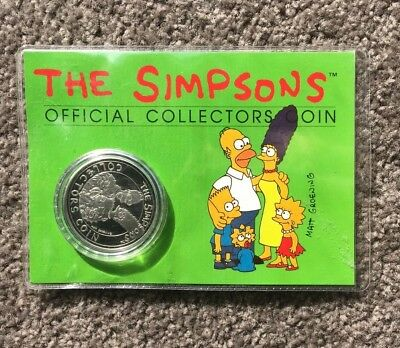 Silver Simpsons Collector Coin  Issue 1994