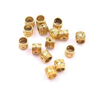 20Pcs Antique Gold  Big Hole Spacer Beads 5MM Hole  H3020