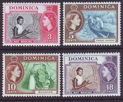 Dominica 1957 SC 157-160 MNH Set