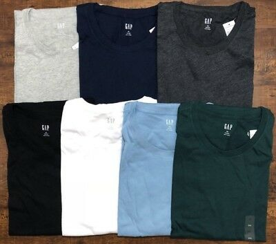 64f5f9f6 Gap Men's Short Sleeve Crew Neck Tee Everyday T-Shirt Size S M L XL 2XL