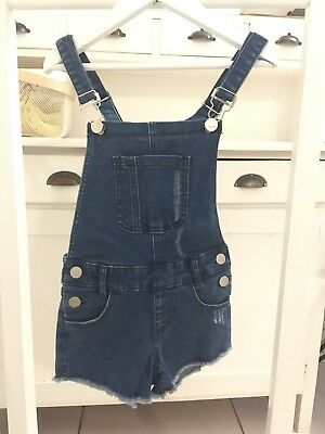 MINTI Girls Cut Off Denim Overalls 😍 5 - 6