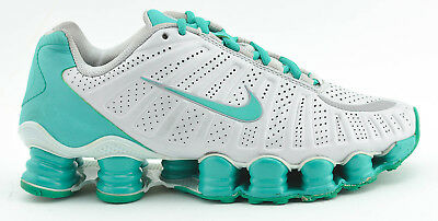 innovative design 0fbae cc774 WOMENS NIKE SHOX Tlx Turbo Running Shoes Size 6.5 White Green Turquoise  488344