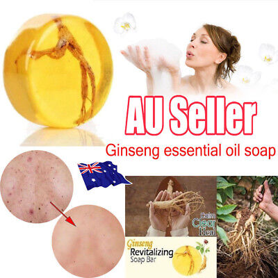 Ginseng Revitalizing Soap Bar Psoriasis Eczema Anti Fungus Bath Whitening Soap M