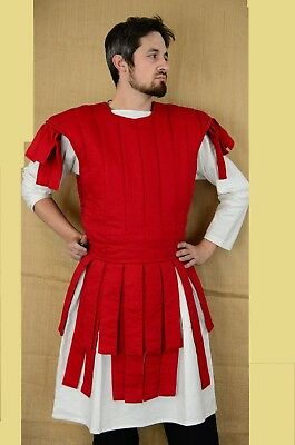 New Thick RED color A shape Samar Mail Gambeson Medieval Padded Full sleeves