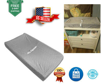 Baby Changing Table Pad Contoured Diaper Change Cushion Nursery Diapering Cover