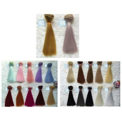35cm Long Colorful Ombre Straight Doll Wigs Synthetic Hair For Dolls BEST