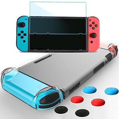 TPU Case And Tempered Glass Screen Protector For Nintendo Switch, Portable