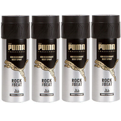 many fashionable on sale reliable quality PUMA 48H DEO Spray Body Spray ROCK THE BEAT 4 x 150 ml - EUR ...