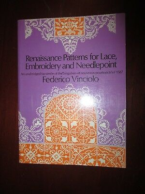Renaissance Patterns for Lace, Embroidery and Needlepoint craft book