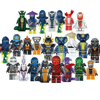 24 Sets Mini figures Ninja Ninjago Jay Cole Kai Pythor Lloyd Chen Kids Toys Fun