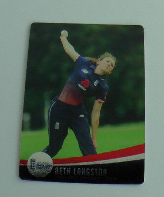 LANGSTON #053 SILVER FOIL PARALLEL CARD tap n play ENGLAND CRICKET 2018 ECB MINT