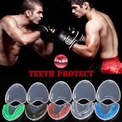 Boxing Gum Shield MMA Martial Arts Mouth Guard Teeth Protection Kids - Adults