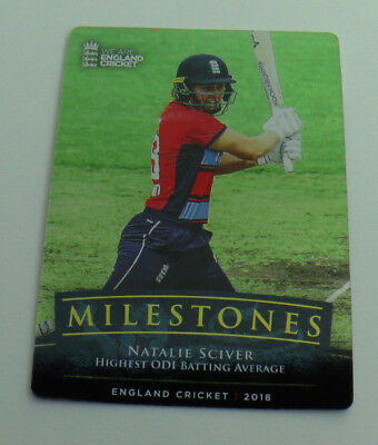 SCIVER MILESTONES CARD MS-7 tap n play ENGLAND CRICKET 2018 ECB MINT