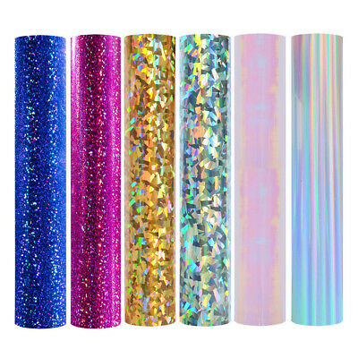 Holographic Iridescent Chrome Vinyl Back Plastic Sticker Wrap Sign Cutter Decal