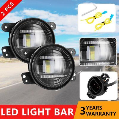 2x 30W LED Round Fog Light Projector Driving Lamp Headlight for Jeep Wrangler