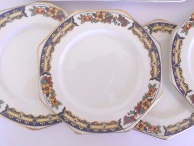 6 Antique  A J Wilkinson 1910+  Royal Staffordshire Side Cake Plates 1135 Gold
