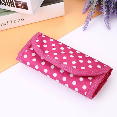 Pouch Knitting Crochet Case Needle Hook Holder Nylon Storage Organizer Print Bag