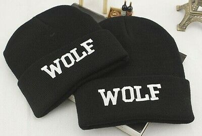 308e2d8aad7 KPOP Winter WOLF Embroidery Beanie Hat Kpop Men s Women s Cool Streetwear  Cap
