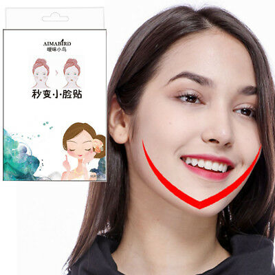 10Pcs Lift Face Sticker Thin Face Artifact Invisible Chin Medical Tape Makeup