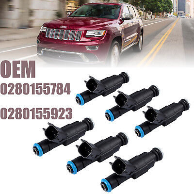Genuine 6x4-Hole Upgrade Fuel Injectors For 99-04 4.0L Jeep Cherokee 0280155784