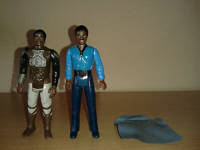 Lando Calrissian '80 + LC Skiff Guard Disguise Kenner Star Wars Vintage