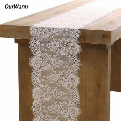 Lace Table Runner Tablecloth Hotel Home Wedding Party Banquet Decor Chair Sash