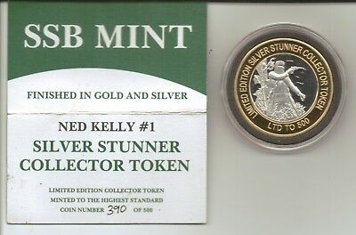 SILVER STUNNER COLLECTOR TOKEN - NED KELLY #1 - Limited Release