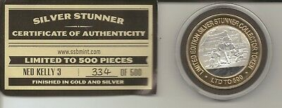 SILVER STUNNER COLLECTOR TOKEN - NED KELLY #3 - Limited Release