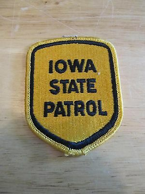 Iowa State Patrol/Police Gold & Black Uniform Patch