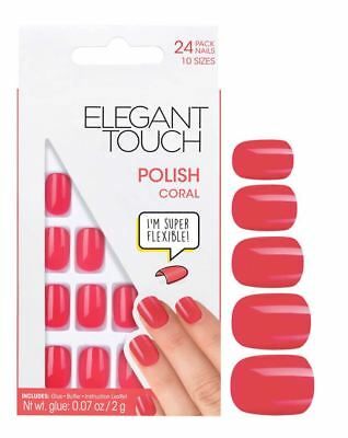 Elegant Touch False Nails - Polished Coral 307 (24 Nails)