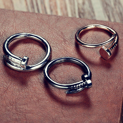 Ring Bracelet Woman Finger Nail Screw Circle Acute Easy Small Arm Accessory