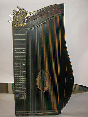Magnificent Antique 1880's CARL FROMM zither musical instrument Wien Vienna