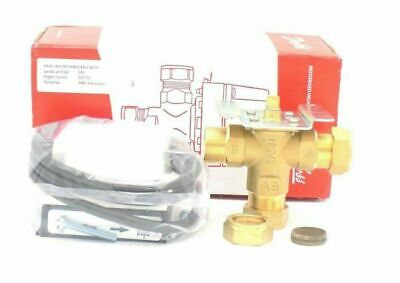 Danfoss Central Heating 3 Port Motorised Valve 22Mm 4 Wire Head And Body Hs3 New