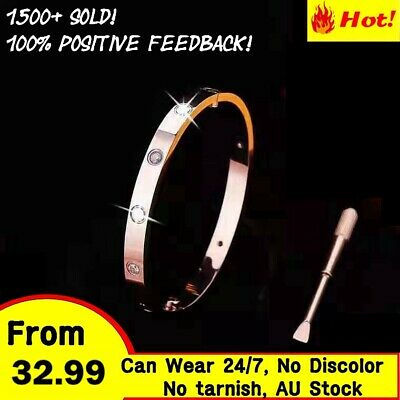 Unisex Gold filled Love Bangle Stunning Stylish Bracelet with Screw Driver Gift
