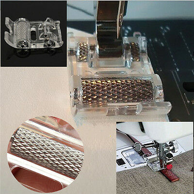 Portable Mini Low Shank Roller Sewing Machine Presser Foot Leather Household UKS