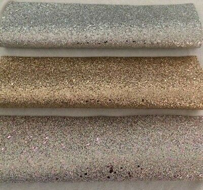PU Leather - Faux Leatherette - Bow Making Fabric - Glitter designs *20 x 34cms