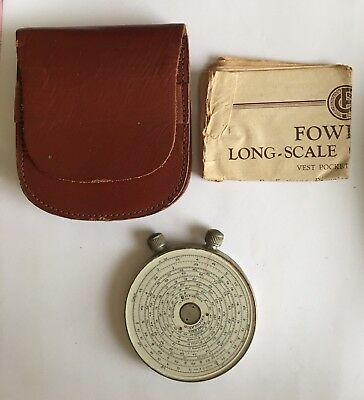 Fowler's Long -Scale Calculator. With Case & Instruction Leaflet