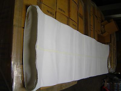 """30 dust collector air filter pulse bags  66""""L, 16.5""""wide laying flat, 10""""ID"""