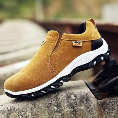 New Mens Slip On Breathable Walking Hiking Trail Trainers Sports Outdoor Shoes