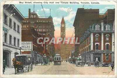 CPA Bay Street showing City Hall and Temple Building Toronto Canada